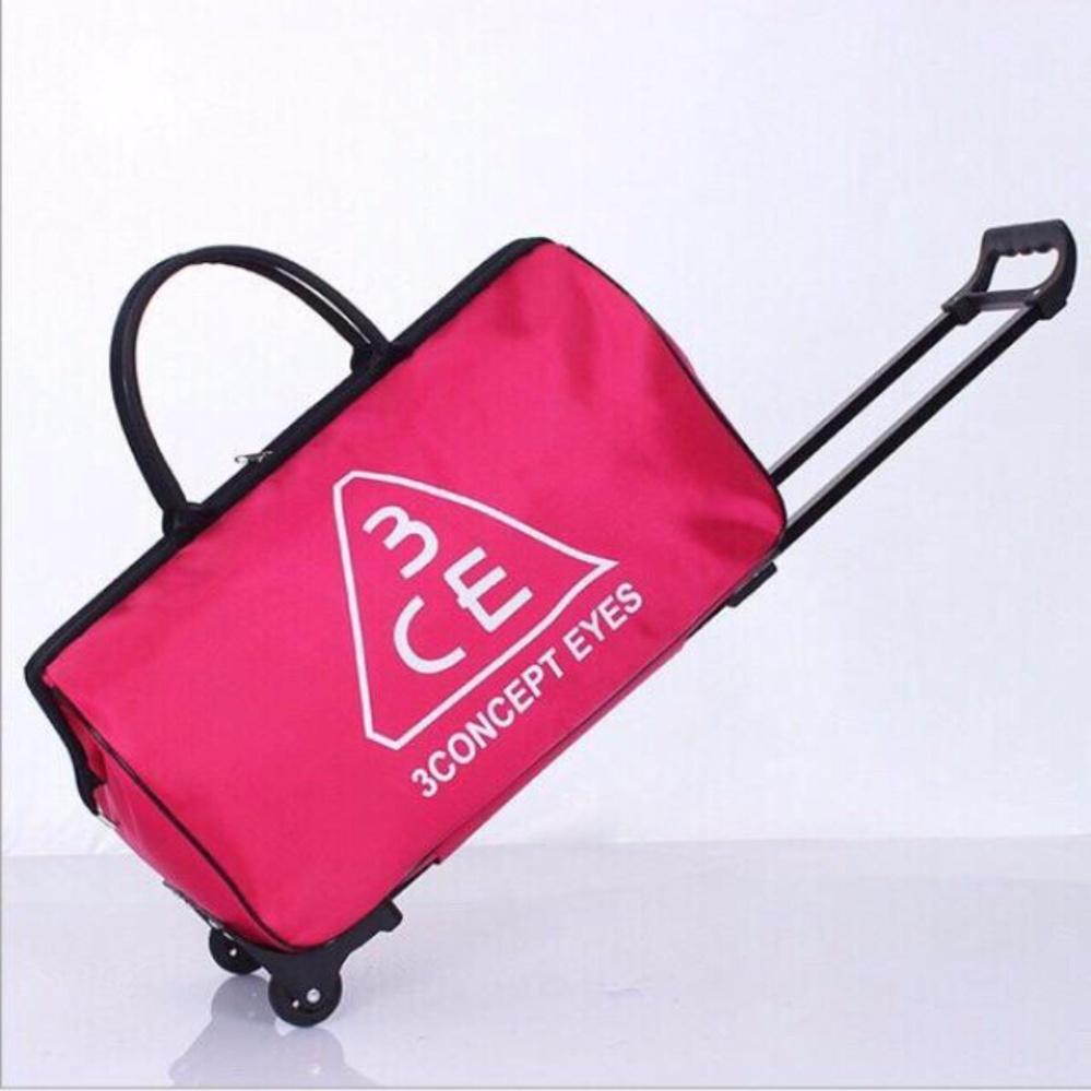 Túi vali kéo tiện dụng (Hồng)