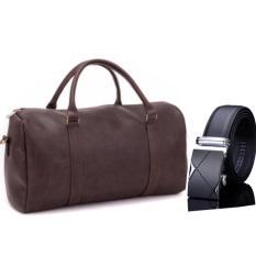 Túi xách du lịch cao cấp HANAMA N1 CAFE TẶNG dây lưng TGB