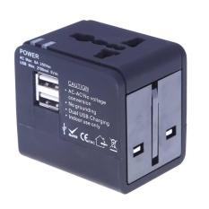 Ổ Điện đa năng Điện Chuyển Đổi USB Cắm Du Lịch (Màu Đen)-quốc tế