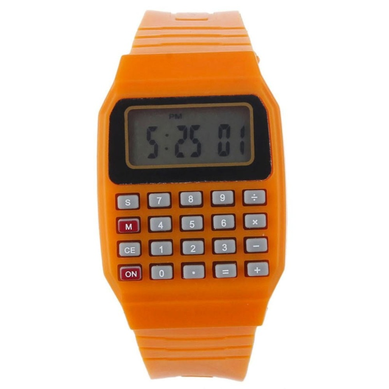 Unsex Silicone Multi-Purpose Date Electronic Wrist Calculator Watch OG - intl bán chạy