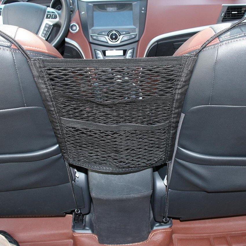 upgraded 3 layer universal car seat storage mesh organizer mesh cargo gi 154 000. Black Bedroom Furniture Sets. Home Design Ideas