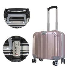 Vali kéo nhỏ kiểu vuông sang trọng nhựa khung nhôm khóa sập TSA 6 số Champagne TA471