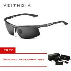 VEITHDIA Aluminum Magnesium Men's Sunglasses Polarized Men Coating Mirror Glasses Eyewear Accessories For Men 6562