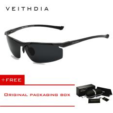 VEITHDIA Aluminum Magnesium Rimless Men's Sunglasses Polarized Sun Glasses Eyewear Accessories For Men 6587
