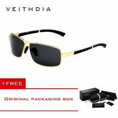 VEITHDIA Brand Men's Sunglasses Polarized Sun Glasses oculos de sol masculino Eyewear Accessories Men 2490