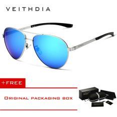 VEITHDIA Fashion Aluminum Magnesium Men's Sun Glasses Polarzed Male Eyewear Sunglasses For Men 3801