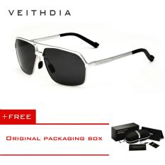 VEITHDIA Polarized Men's Sunglasses Square Sun glasses Driving Eyewear Men 6521