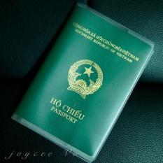 [Mua 2c 19k] Vỏ bao hộ chiếu (passport) dẻo trong có khe đựng vé máy bay và các loại thẻ dạng PET Joycee Vo JV132