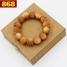 Vòng chuỗi tay gỗ Huyết long 15 ly 14 hạt + hộp