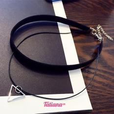 Vòng Cổ Choker Nữ Đôi Tam Giác Bạc – Tatiana – D2250