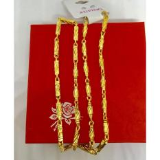 Vòng cổ nam mạ vàng cực sang.Vòng cổ dạng ống đẹp VCN03(Vàng)