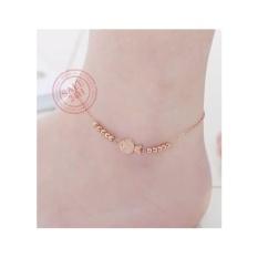 Vòng đeo chân nữ mạ vàng 18k Cá hề vàng hồng 2018 LC046_0384