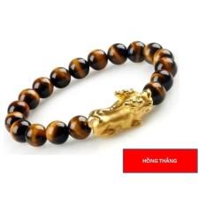 Vòng đeo tay mắt hổ tỳ hưu 10 li (Vàng) – Phong thủy may mắn phát tài