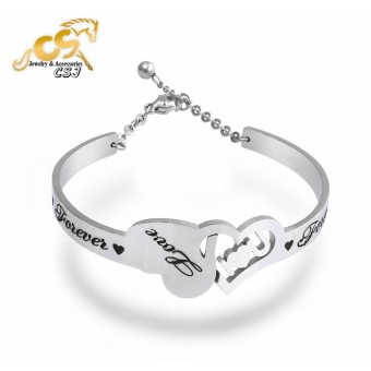 Vòng tay inox nữ trái tim - vòng tay đẹp giá rẻ