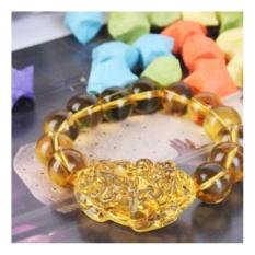 Trang bán Vòng tay Tỳ Hưu đá tự nhiên may mắn 13 viên Vàng(Vàng)