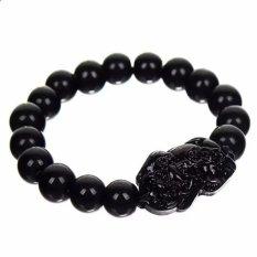 Trang bán Vòng tay tỳ hưu đen 16 hạt 10mm may mắn, tài lộc cho người đeo