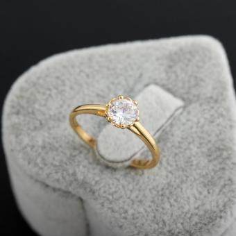 Wedding Ring Copper Zircon 18K God Fied