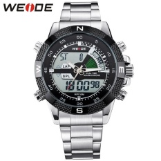 Bảng Giá WEIDE Brand Men Sports Watches Men's Quartz Watch Analog Digital Military Army Diver Full Steel Wristwatches 1104 – intl