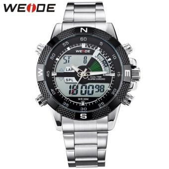 Bảng Giá WEIDE Brand Men Sports Watches Men's Quartz Watch Analog Digital Military Army Diver Full Steel Wristwatches 1104 – intl