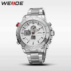 Thông tin Sp WEIDE Men Quartz Waterproof Dial Analog Display Date Clock Aolly Case Full Steel Strap Watches Silver White – intl   NanXiangZi