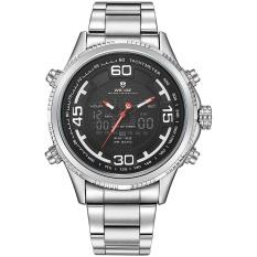 Giảm Giá WEIDE WH6306 Outdoor Sports Waterproof Men's Stainless Steel Strap Watches Silver Black – intl  NanXiangZi