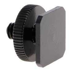 Whyus-2Pcs Premium Steel 1/4″ 3/8″ Dual Layer Tripod Mount Screw to Flash Hot Shoe Adapter