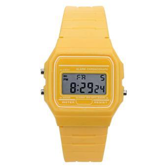 Women Electronic Led Digital Multifunction Sport Watch(Yellow) - Intl