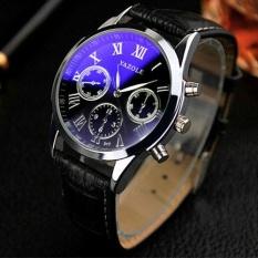 Yazole 317 Men Business Waterproof Belt Non Machinery Luminous Quartz Watch Black – intl