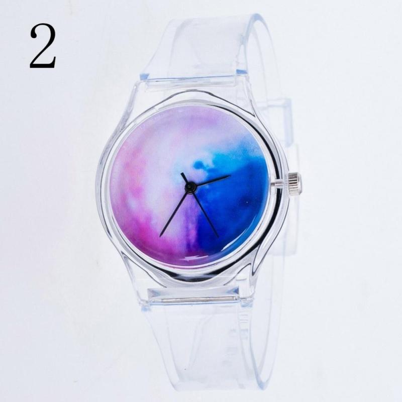 YBC Girl Cartoon Transparent Strap Watches Student Sport Casual Quartz Wristwatch - intl bán chạy