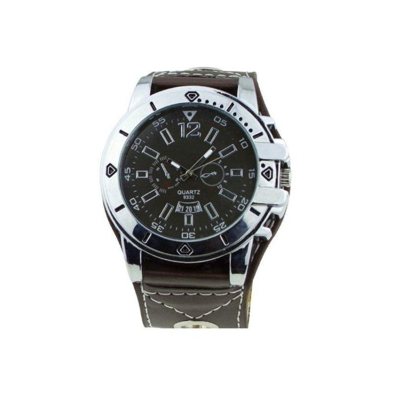 Nơi bán Zhouda Mens Sport Black Leather Strap Watch(Not Specified)(OVERSEAS) - intl