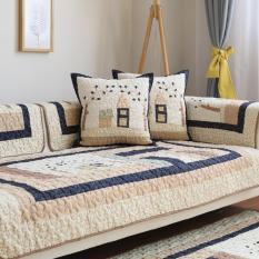 Jiuzhimao 100% Cotton Đệm Sofa Bốn Mùa Giản Lược Phòng Khách Hiện Đại Chống Trượt Đệm Sofa Bọc Toàn Bộ Nắp Che Khăn Đệm Ngồi