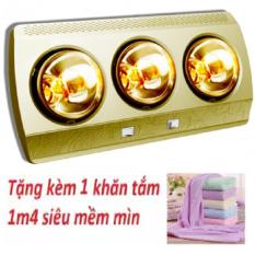 Đèn sưởi, đèn sưởi nhà tắm 3 bóng, Đèn sưởi tặng kèm 1 khăn tắm 1m4, đèn sưởi 3 bóng – BẢO HÀNH 3 NĂM
