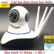 Camera wifi CareCam Ful HD- 1080P xoay 360 Thế hệ mới hình ảnh sắc nét 2.0mp ,10 đèn hồng ngoại, ghi âm đàm thoại hai chiều, báo động chống trộm