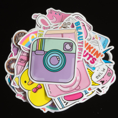 [M1] Sticker dán Hồng Pastel | hình dán cute pink VSCO mẫu mới 2020 chống nước lâu phai trang trí laptop, macbook, mũ bảo hiểm, đàn guitar, ukulele, xe máy, xe đạp