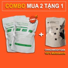 2Kg Whey Protein Concentrate NZMP 80% Protein tặng 1Kg Maltodextrin – Đạm whey cô đặc