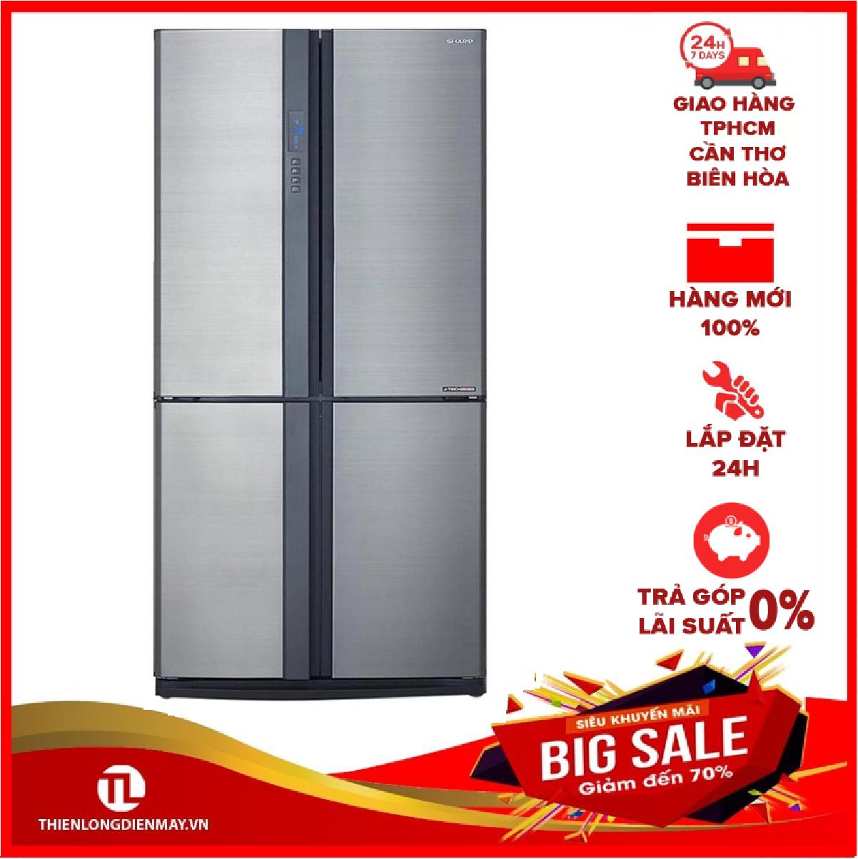 [Nhập ELMAY21 giảm 10% tối đa 200k đơn từ 99k]Tủ lạnh Sharp Inverter 626 lít SJ-FX631V-SL