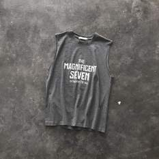 Áo thun ba lỗ nam, tanktop, chuẩn gym mặc nhà dạo phố – In Logo nhiều màu – Thun cotton thoáng mát