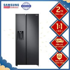 Tủ lạnh Samsung Inverter 617 lít RS64R5301B4/SV, Làm lạnh nhanh Làm đá nhanh Làm đá tự động Lấy nước bên ngoài Ngăn đá lớn Chuông báo cửa mở Lấy đá bên ngoài