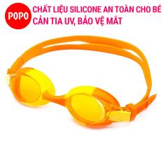 Kính bơi trẻ em, kính bơi cho bé từ 3 tuổi POPO 1150 mắt kiếng bơi cho bé gái, bé trai ngăn nước, cản tia UV, hạn chế sương mờ