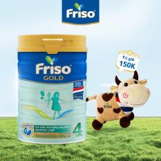 [Mẫu mới] Sữa Bột Friso Gold 4 lon thiếc 850G – cho trẻ từ 2-6 tuổi + Tặng con bò trái tim [Thu thập voucher giảm thêm 50k]