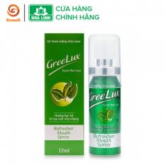 Xịt thơm miệng Greelux thảo dược bạc hà nhẹ nhàng (xanh lá) 12ml – GL1-01, giúp làm thơm miệng tức thì, khử mùi hôi miệng, mùi thức ăn,…mang lại cho bạn hơi thở thơm mát