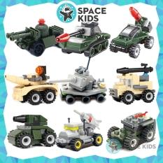 Đồ chơi trẻ em xếp hình Lego giá rẻ lắp ghép xe tăng, ô tô chủ đề Quân đội từ 24 đến 37 chi tiết chất liệu nhựa ABS cao cấp cho bé tư duy phát triển trí tuệ