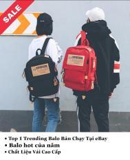 Balo thời trang nam nữ form rộng kiểu Hàn Quốc cực ngầu, Balo đi học đi chơi cực cool, Balo chất mã BL179