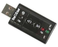 USB Sound âm thanh 3D ra 2 cổng 7.1 ( ĐEN )