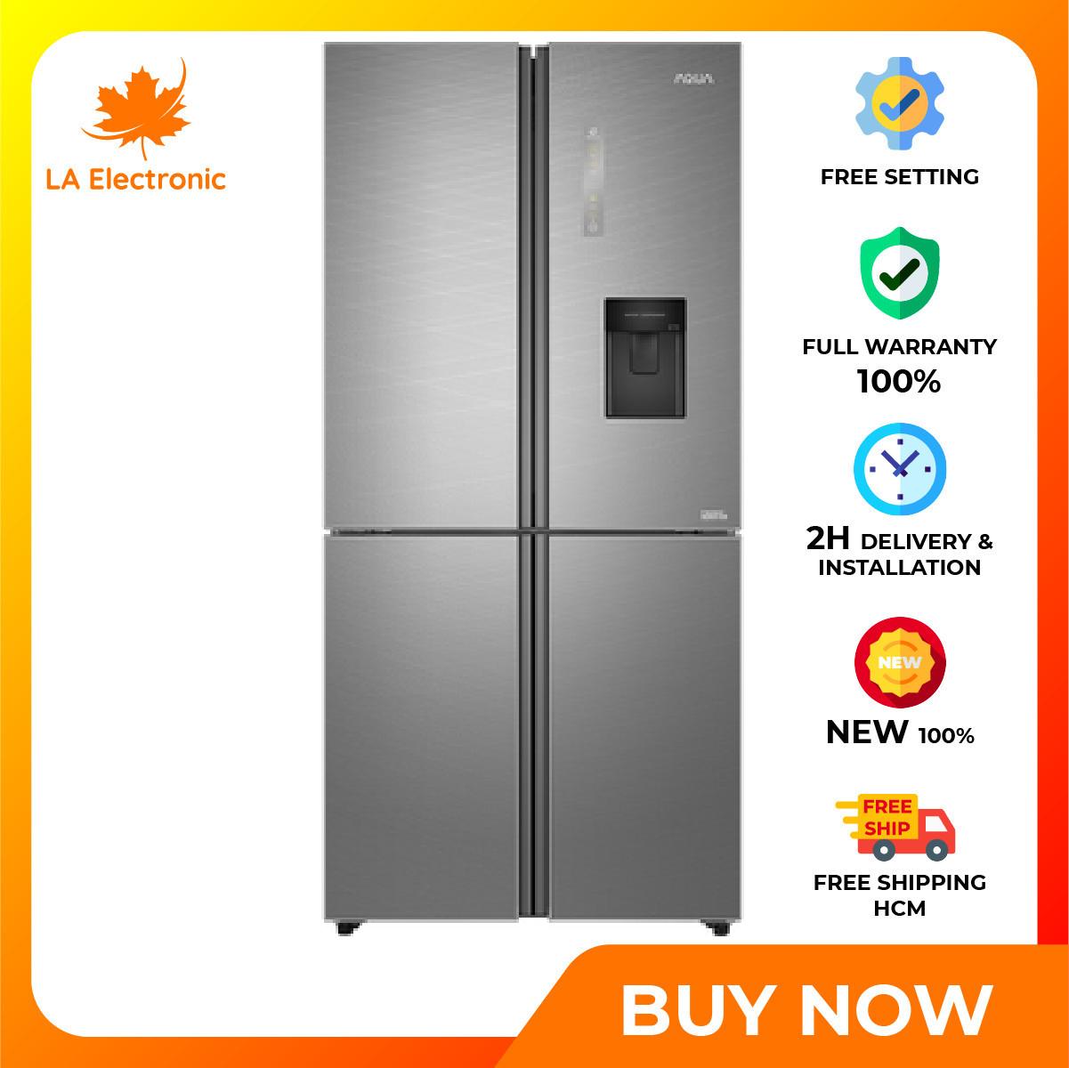 Trả Góp 0% – Máy lạnh – Aqua Inverter 456 liter refrigerator AQR-IGW525EM GD, thiết kế thông minh, công nghệ hiện đại, hoạt động mạnh mẽ và bền bỉ, có chế độ bảo hành và xuất xứ rõ ràng – Miễn phí vận chuyển HCM