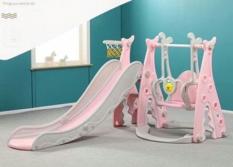 cầu trượt xích đu cho bé -tặng kèm khung bóng rổ cho bé yêu thỏa sức vận động