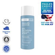 Tinh chất điều trị se khít lỗ chân lông Paula's Choice Resist Daily Pore refining Treatment 2% BHA Trial