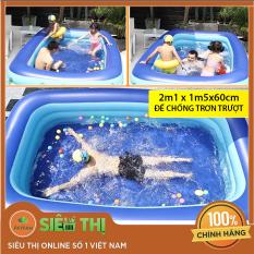(TẶNG + KEO MIẾNG VÁ 2M1 ) Bể bơi trẻ em 3 tầng bể bơi cho bé , bể bơi phao bơi người lớn ( 180 X 140 X 60 cm ) giá rẻ có họa tiết ngỗ nghĩnh đáng yêu , Hồ bơi dành cho trẻ em người lớn