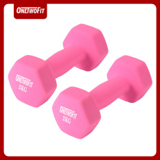 OneTwoFit 2kg Neoprene Dumbbell Pairs and Sets of 2. Bộ 2 tạ OneTwoFit 2kg