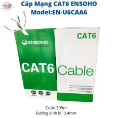 Cuộn cáp mạng lan Cat6 Utp Ensoho 305 mét model En-U6caa6- sản phẩm sản phẩm chất lượng giá cả hợp lý độ bền cao dễ dàng sử dụng